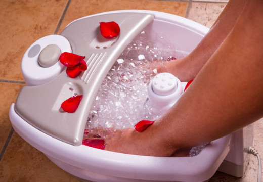 Bring the spa home with a relaxing foot bath